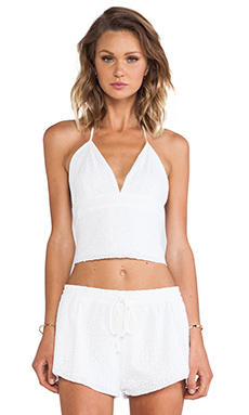Somedays Lovin Field Sparrow Halter Top in White