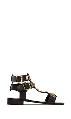 Steve Madden Perfeck Sandal in Black & Gold