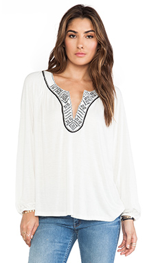 Soft Joie Rhys Top in Porcelain