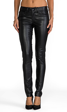 SOLD Design Lab Sterling Street Faux Leather Skinny in Black