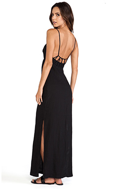 So Low Loop Back Maxi Dress in Black