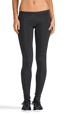 SOLOW Basics Long Leggings in Heather Charcoal