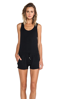 So Low Racerback Romper in Black