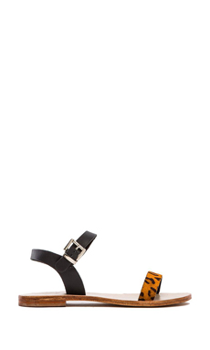 Sol Sana Rebel Sandal in Black & Orange Pony