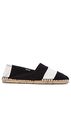 Soludos Barca Stripe in Black & White