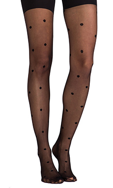 SPANX Polka Dot Tights in Black