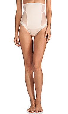 SPANX Oh My Posh High-Waisted Thong in Natural