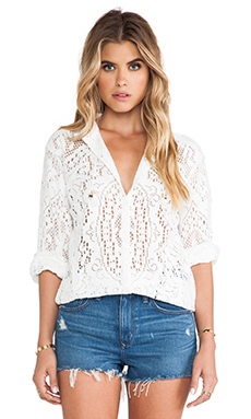 Spell & The Gypsy Collective White Dove Lace Blouse in White