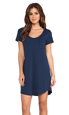 Splendid Tee Dress in Navy