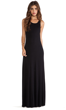 Splendid Tank Maxi Dress in Black