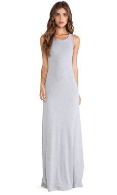 Splendid Tank Maxi Dress in Heather Grey