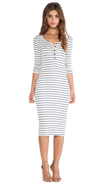 Splendid New Haven Stripe Dress in White