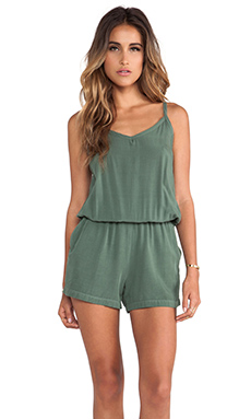 Splendid Romper in Camo Green