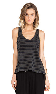 Splendid Vintage Coastal Stripe Tank in Lead