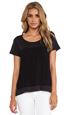 Splendid Always Shirting Tee in Black
