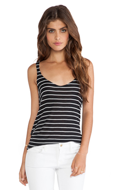 Splendid New Haven Stripe Tank in Black