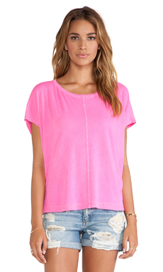 Splendid T-shirt Vintage Whisper en Hot Pink