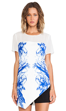 Style Stalker Run Away With Me Top in Blue Floral