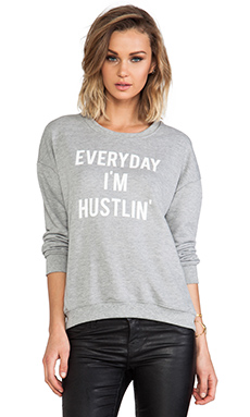 Style Stalker Hustlin Sweatshirt in Grey Marle
