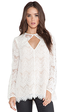 Style Stalker Devoted To You Blouse en Blanc