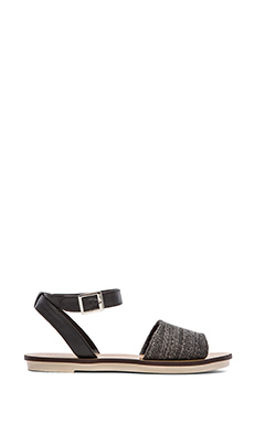 Steven Roberta Sandal in Black
