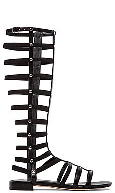 Stuart Weitzman Gladiator in Black