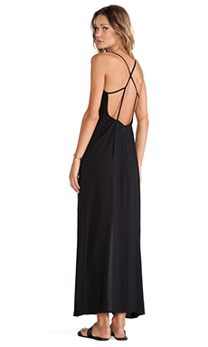 Stillwater X Back Dress in Black Challie