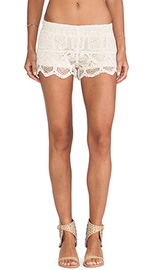 Surf Gypsy Crochet Shorts in Ivory