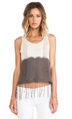Surf Gypsy Fringe Bottom Tank in Ivory