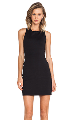 Susana Monaco Cross Back Tank Dress in Black