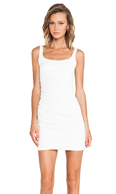 Susana Monaco Cross Gather Tank Dress in Meringue