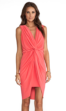 T-Bags LosAngeles Knot Dress in Salmon