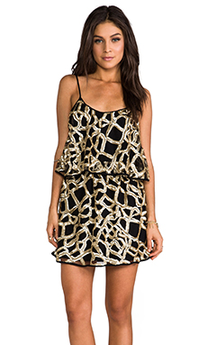 T-Bags LosAngeles Webbed Dress in Gold Web