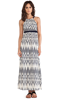 T-Bags LosAngeles Cross Back Maxi Dress in Nautical Zig Zag