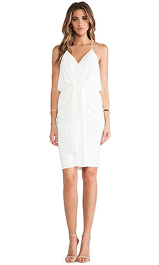 T-Bags LosAngeles Knot Front Knee Length Dress in White