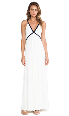 T-Bags LosAngeles Wrap Around Tie Maxi Dress in White