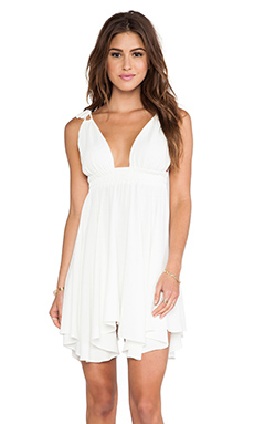 T-Bags LosAngeles Flirty Hem Tank Dress in Ivory