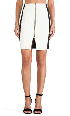 T-Bags LosAngeles Zipper Detail Mini Skirt in Arctic White