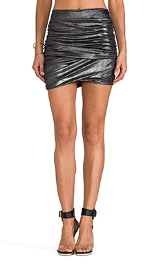T-Bags LosAngeles Mini Skirt in Silver Metallic