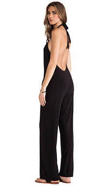 T-Bags LosAngeles Strapless U Back Jumpsuit in Black