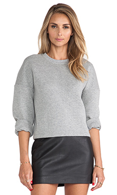 T by Alexander Wang Crewneck Sweatshirt in Heather Grey