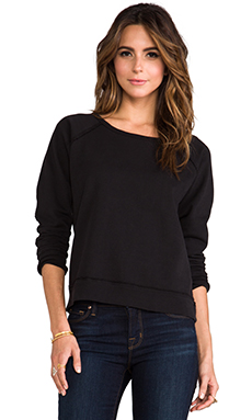 TEXTILE Elizabeth and James Cutoff Perfect Sweatshirt in Black