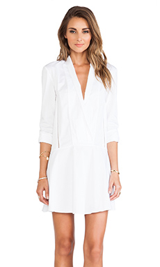 Thakoon Addition Shawl Collar Dress in White