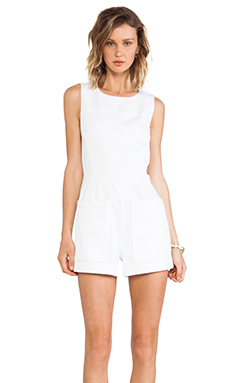 Theory Hadrine Romper in White