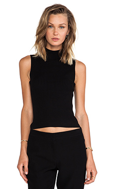 Theory Everleen Crop Tank in Black