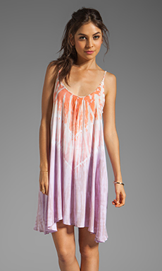 Tiare Hawaii Dress Voile Stud in Pink/Orange