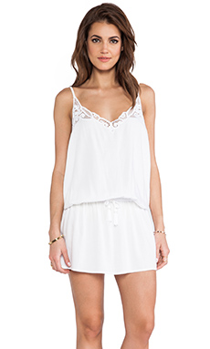 Tiare Hawaii Lydia Mini Tank Dress in White