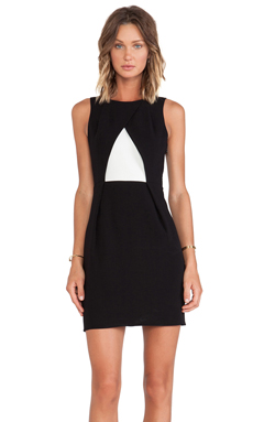 Tibi Arden Crepe Sleeveless Pleat Dress
