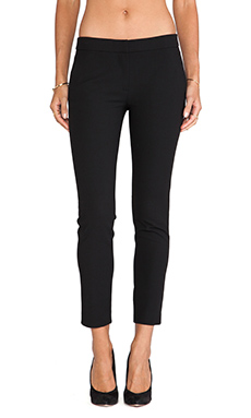 Tibi Anson Stretch Pant in Black