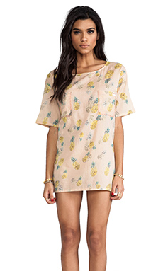 Tigerlily Sona Tee Dress in Pineapple